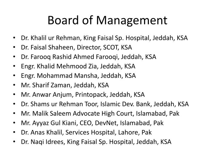 Board of Management