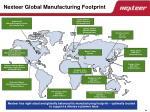 nexteer global manufacturing footprint