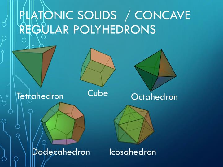 Platonic solids  / concave regular polyhedrons