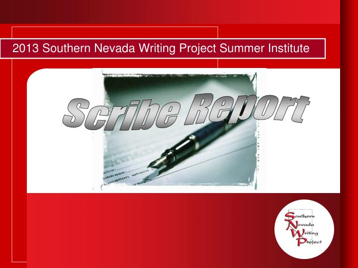 2013 southern nevada writing project summer institute1