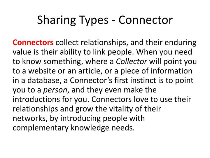 Sharing Types - Connector