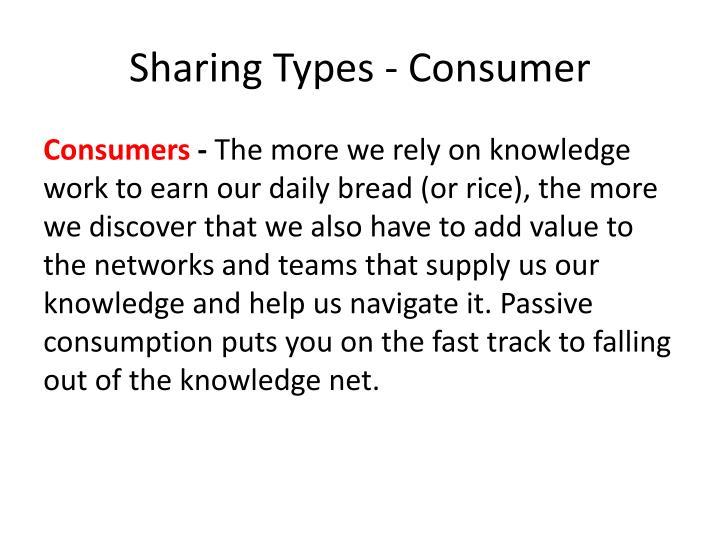 Sharing Types - Consumer