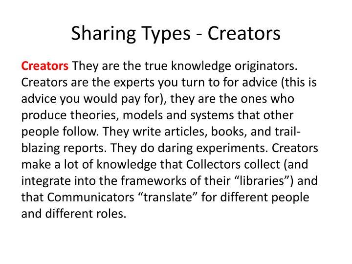 Sharing Types