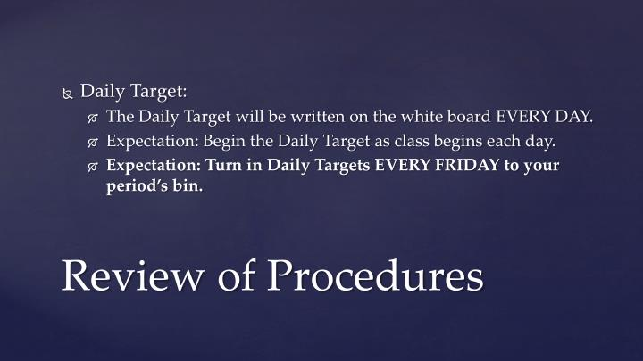 Daily Target: