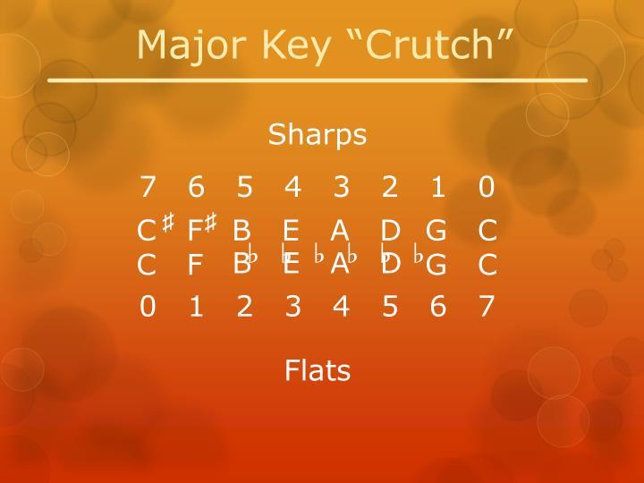 "Major Key ""Crutch"""