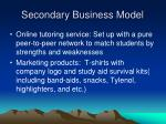 secondary business model