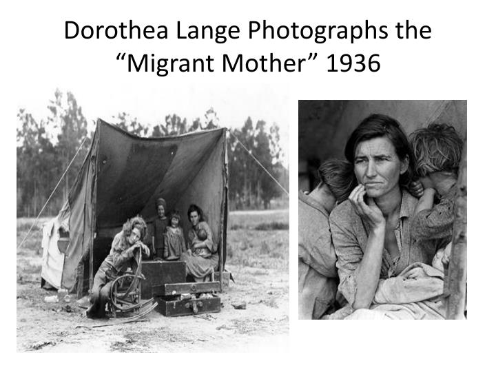 """Dorothea Lange Photographs the """"Migrant Mother"""" 1936"""
