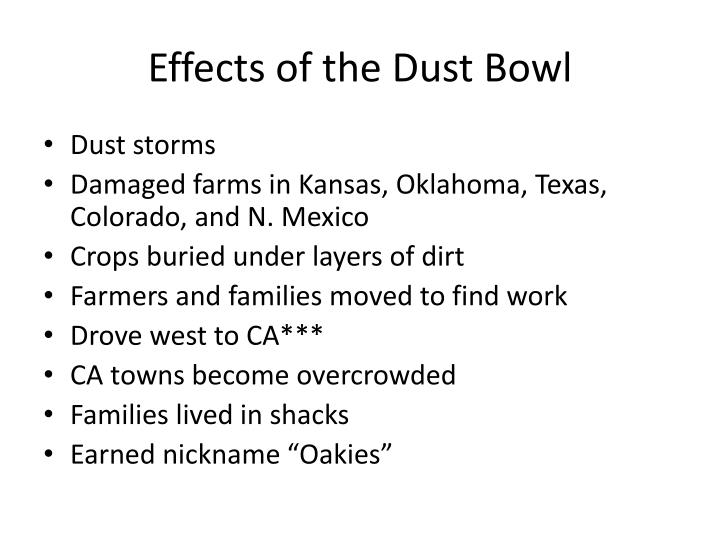 Effects of the Dust Bowl