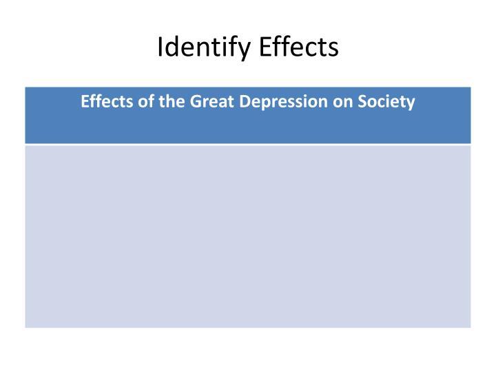 Identify Effects