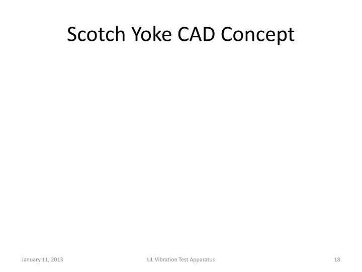 Scotch Yoke CAD Concept
