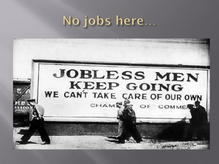 No jobs here…