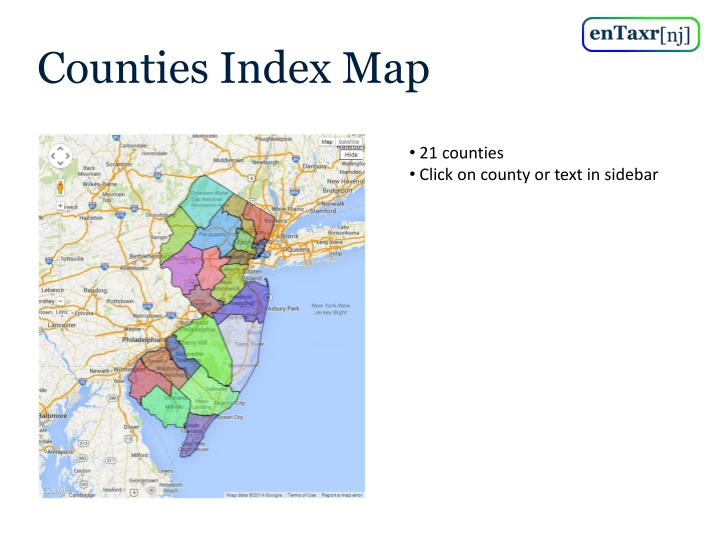 Counties Index Map