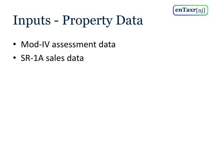 Inputs - Property Data
