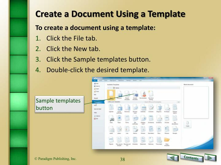 Create a Document Using a