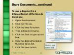 share documents continued6