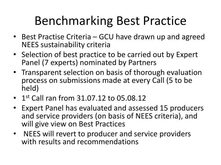 Benchmarking Best Practice