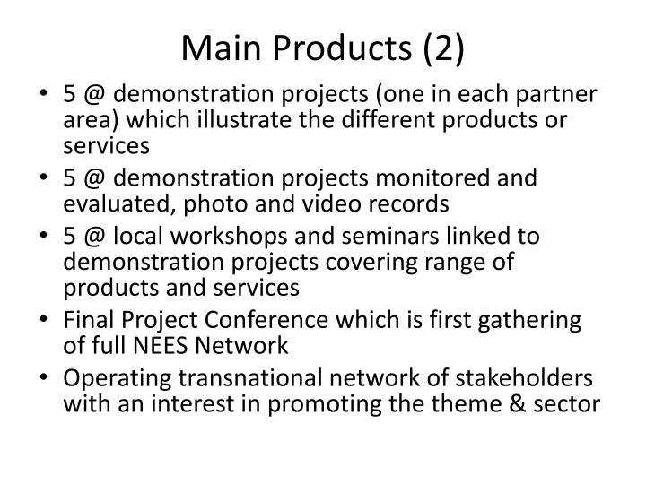Main Products (2)