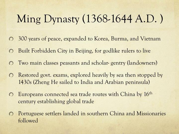 Ming Dynasty (1368-1644 A.D.