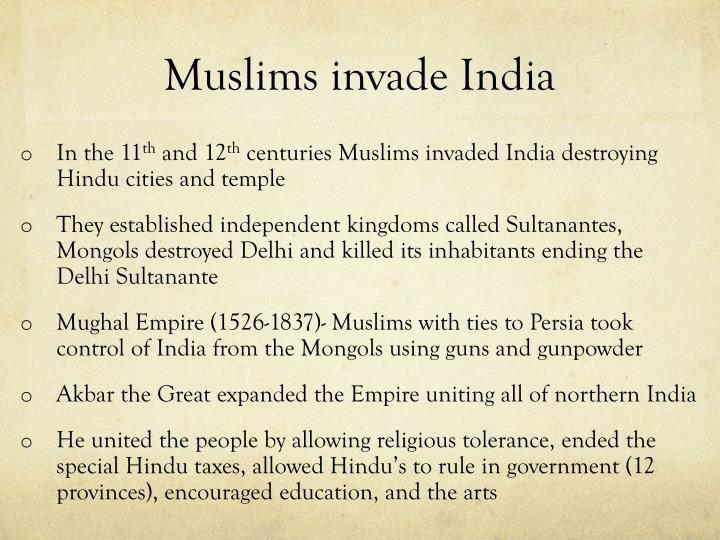 Muslims invade India