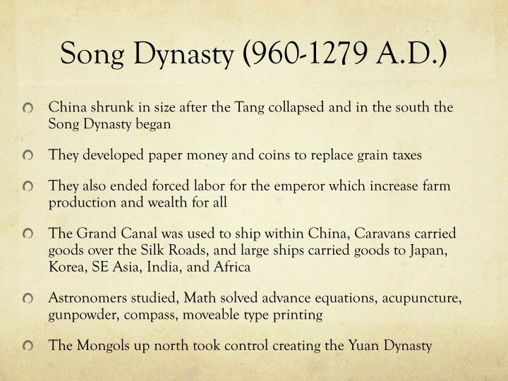 Song Dynasty (960-1279 A.D.)