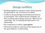 group conflicts