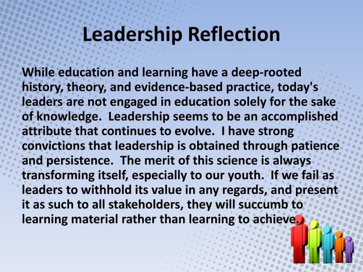 Leadership Reflection