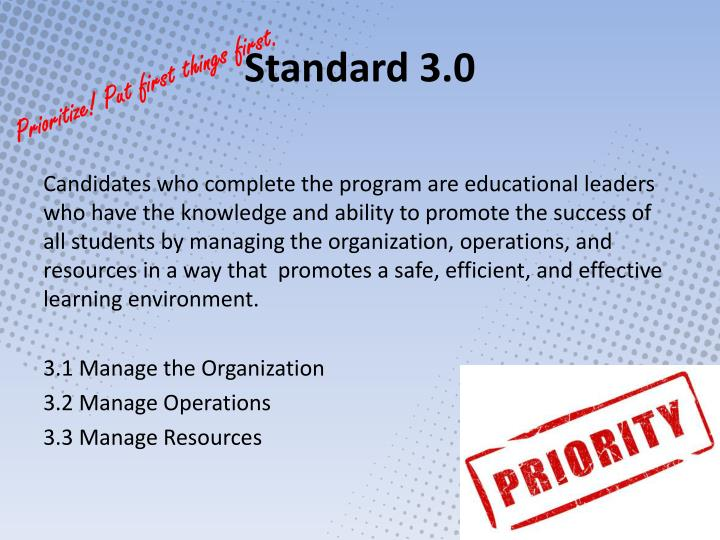 Standard 3.0