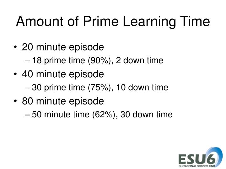 Amount of Prime Learning Time
