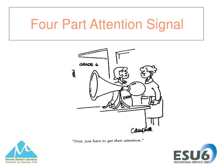 Four Part Attention Signal