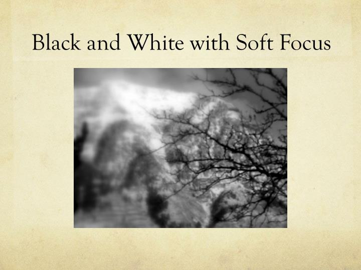 Black and white with soft focus