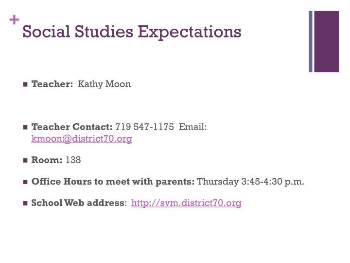 Social Studies Expectations
