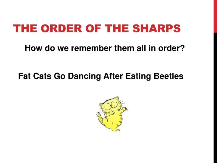The order of the sharps