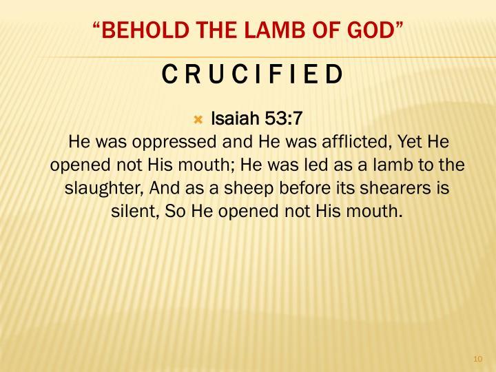 Isaiah 53:7