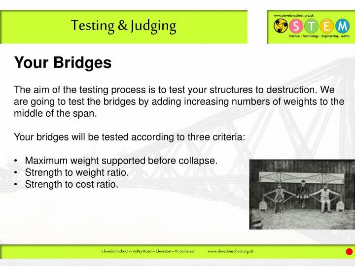 Testing & Judging