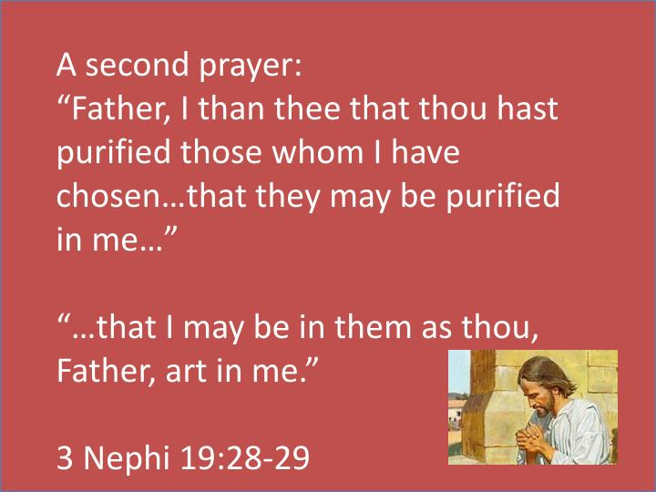 A second prayer: