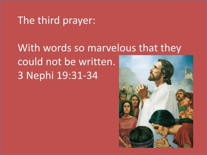 The third prayer: