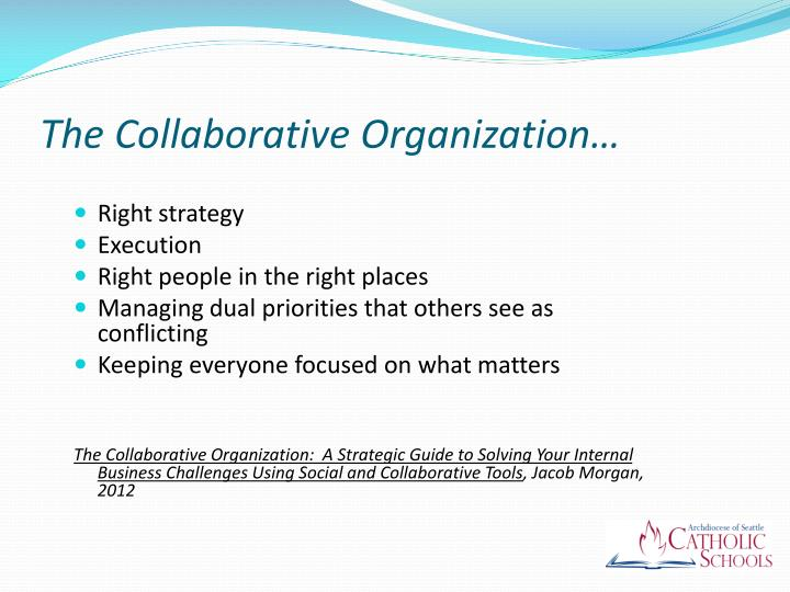 The Collaborative Organization…