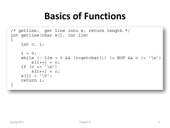 Basics of Functions
