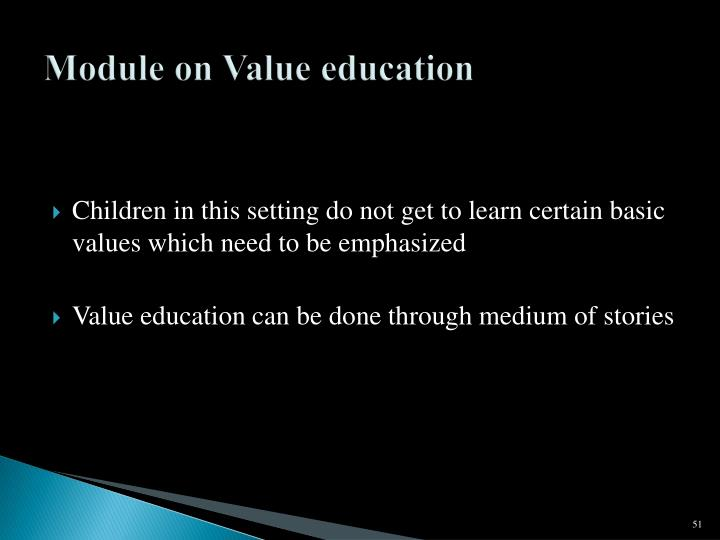 Module on Value education