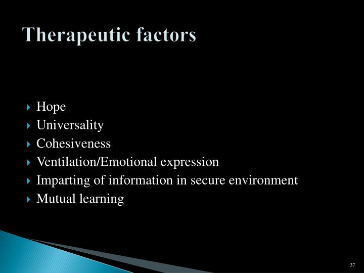 Therapeutic factors