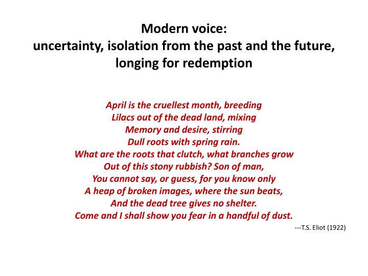 Modern voice:
