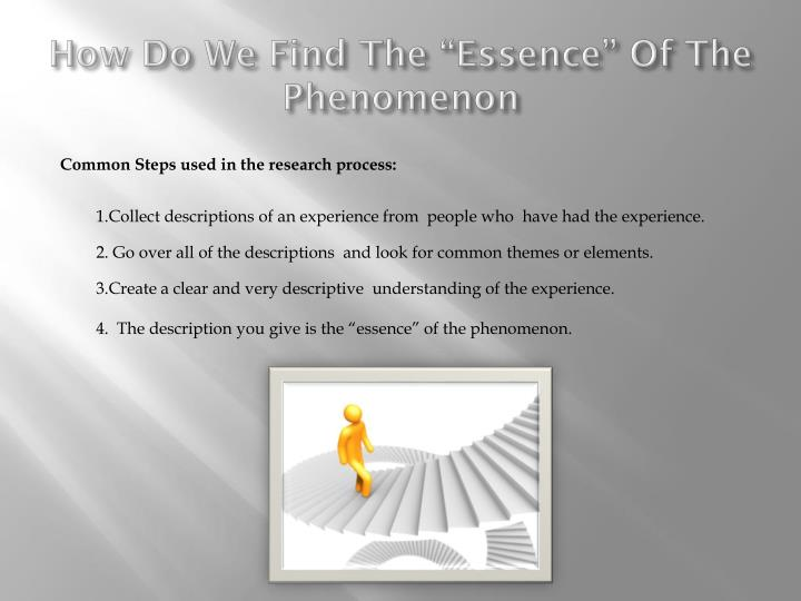 "How Do We Find The ""Essence"" Of The Phenomenon"