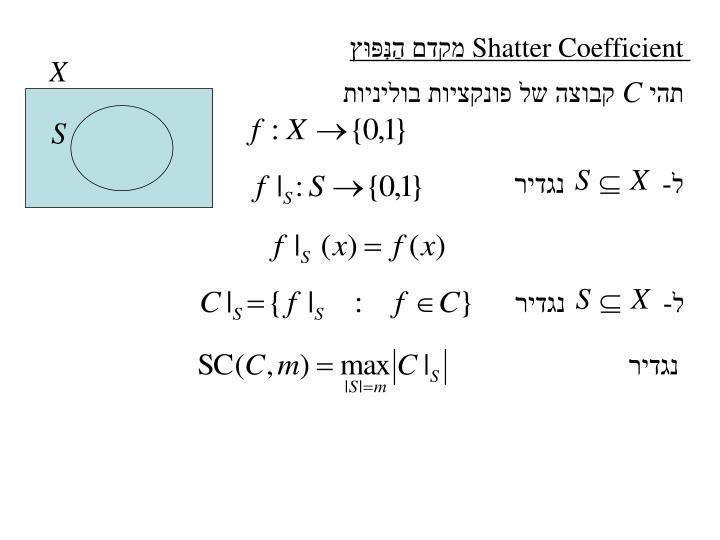 Shatter Coefficient