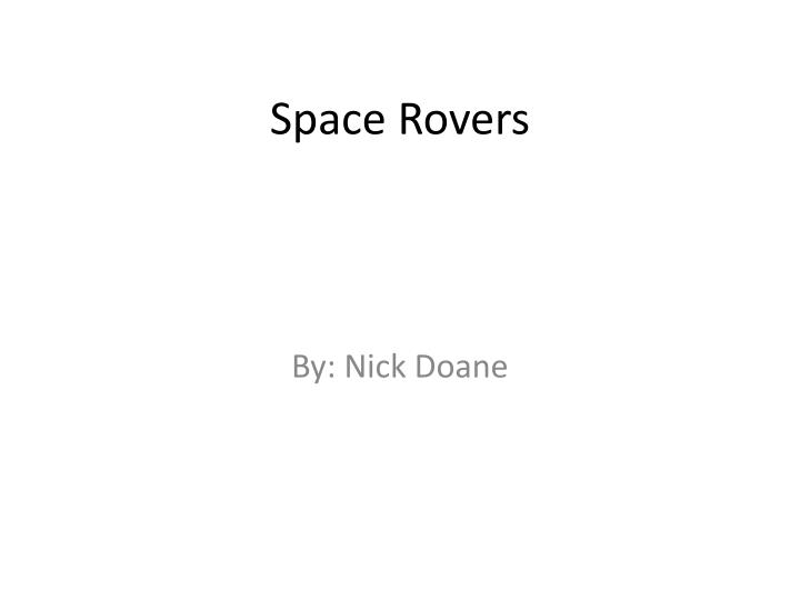 Space Rovers