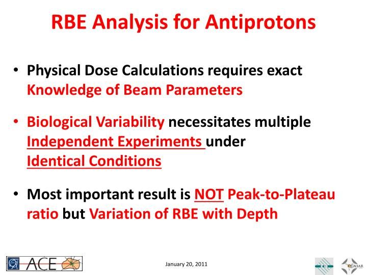 RBE Analysis for Antiprotons