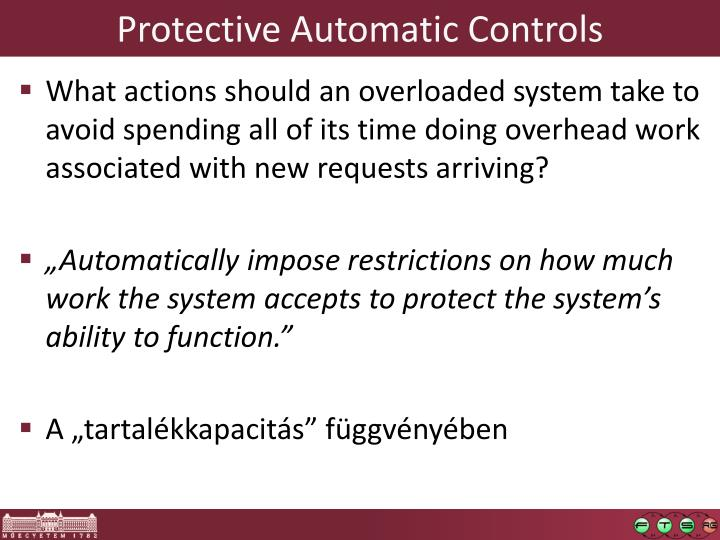 Protective Automatic Controls