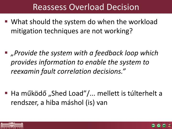 Reassess Overload Decision