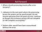 roll forward