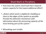 shed work at periphery