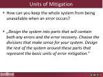 units of mitigation